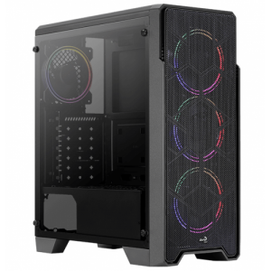 Aerocool Ore Saturn Tempered Glass Edition FRGB Mid Tower Chassis